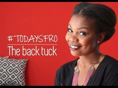 4 Gorgeous Protective Styles for Natural Hair this Fall | Black Girl with Long Hair | Simple Back Tuck (4C hair)