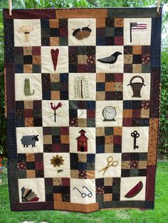 Primitive quilt great example