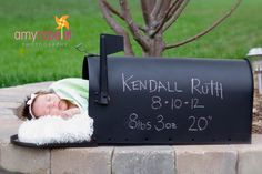 Mailbox newborn photo prop. $80.00, via Etsy.