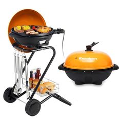 Excelvan Portable Electric Barbecue Grill With 5 Temperature Settings Ideal  For Indoor And Outdoor Use, Smokeless, Non Stick, Easy To Clean, Black
