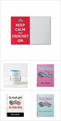 Crochet - office items such as notebooks, folders, mugs for anyone who loves crochet, all available to buy from Zazzle