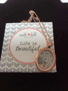 My favourite locket at the moment is the vintage Oval Rose Gold www.southhilldesigns.com/jacquilawrence Artist I'd 311367