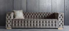sofá gris terciopelo vical