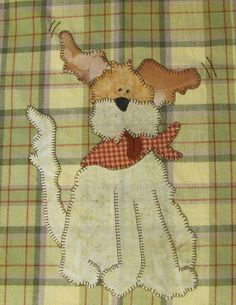 Love the expression on this scruff!  Wilson PDF Applique Pattern for Tea Towel by Quilt Doodle Designs.