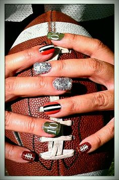 Cleveland brown sport nails:)