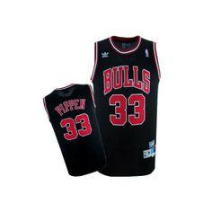 Camiseta Chicago Bulls retro - Pippen negra - Basket3C.com ¡Tu tienda de Basket online!