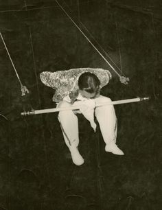 Hankie Trapeze trick.Capell Bros.Circus