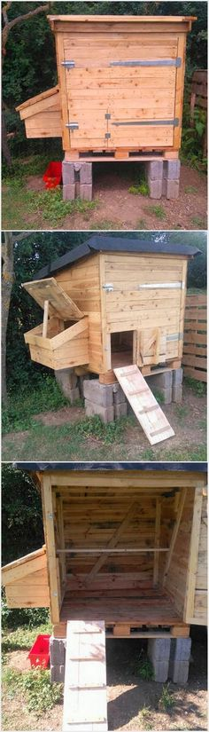 In most of the houses you might have catch the chicken coop that is all set with simple form of designing. But why don't you think about setting something creative for the chickens in your house? Well, in that case we would provide you with the best idea of arranging the chicken coop for you that is set with wood pallet material.