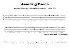 Amazing Grace Tabs - 3 String - Open G