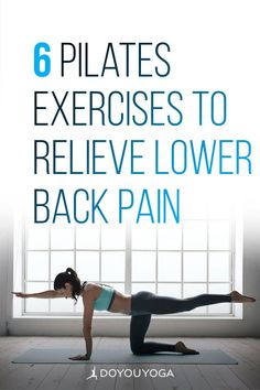 6 Pilates Exercises to Relieve Lower Back Pain #yoga #pilates #fitness #corestrength Pilates Fitness, Pilates Workout, Hip Pain, Low Back Pain, Core Muscles, Back Muscles, Tight Hamstrings, Lower Back Exercises, Pilates Instructor