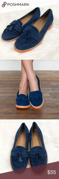 Jeffrey Campbell 9.5 Blue Suede Tassel Loafers Jeffrey Campbell blue suede tassel loafer Size 9.5M  Excellent condition Jeffrey Campbell Shoes Flats & Loafers
