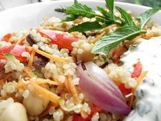 Summer Yum: Chickpea, Roasted Vegetables, Quinoa and Mint Salad