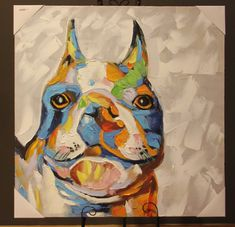 Combine colour and character with this fabulous painting of man's best friend... Available now instore or online!