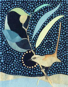Red Backed Wren, by Dana Kinter, Adelaide artist Painted Birds, School Painting, Bird Quilt, Bird Artwork, Botanical Drawings, Art File, Art For Art Sake, Floral Illustrations, Australian Artists