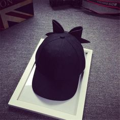 2017 Hot Sale New Fashion Solid Bow Girl Cap Snapback Hip Hop Cap Flat 17mar10