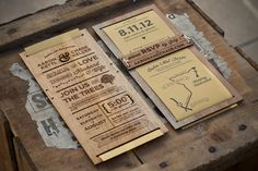 San Diego based graphic designer Chase Kettl has produced this beautiful invitation design set.