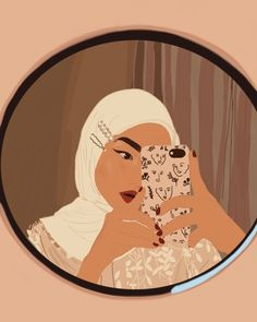 Abstract Iphone Wallpaper, Cartoon Wallpaper, Aesthetic Iphone Wallpaper, Hijab Drawing, Abstract Face Art, Hijab Cartoon, Pop Art Portraits, Cartoon Art, Cute Wallpapers