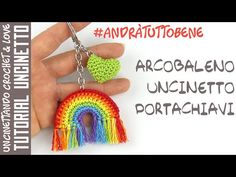 Crochet easy rainbow keychain is very creative and modern accessory. It's fast and fun project also great for those who love new and crazy ideas. Crochet Gratis, Filet Crochet, Diy Crochet, Crochet Stitches, Crochet Hooks, Crochet Keychain, Crochet Earrings, Free Baby Blanket Patterns, Collars