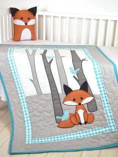 Patchwork Quilts Pinterest Patchwork Quilt Tutorial Pinterest Fox Blanket Fox Nursery Quilt Baby Boy Quilt Boy Crib Bedding Forest Crazy Patchwork Quilt Pinterest