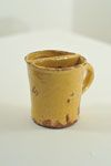 Mug   Shaving mug coated with white slip under honey www.burtonartgallery.co.uk