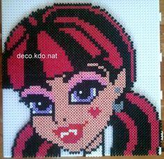 Draculaura Monster High hama perler beads by NAT42