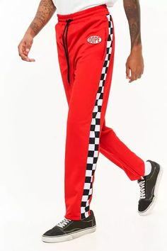 Product Name:Dope Checkered Panel Track Pants, Category:CLEARANCE_ZERO, Price:65