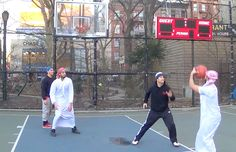 STREET BASKETBALL MATCH! TEAM ISLAM vs. TEAM USA