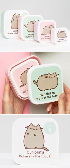 Pusheen snack containers