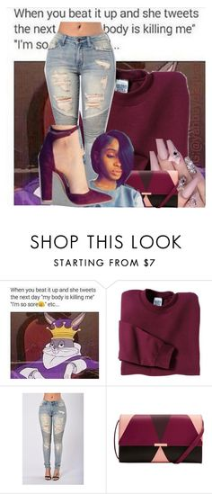 """Untitled #2335"" by kayla77johnson ❤ liked on Polyvore featuring Gildan and Ted Baker"