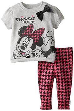 Disney Baby Girls  Minnie Mouse Hatchi Legging Set Multi 6 Months *** Learn more by visiting the image link.