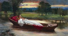 """The Lady of Shalott David Wilkie Wynfield (British, Oil on canvas. The Lady of Shalott Alfred, Lord Tennyson. """"With a steady stony glance— Like some bold seer in a. David Wilkie, Romanticism Paintings, Mode Rococo, The Lady Of Shalott, Art Story, Name Art, Art Deco Diamond, Diamond Brooch, Pre Raphaelite"""