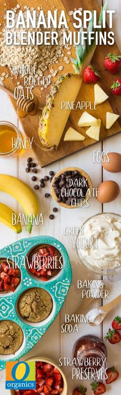 Banana Splits in the morning? Who says it can't be done! These Banana Split Blender Muffins are a super easy and fun way to treat yourself for breakfast.