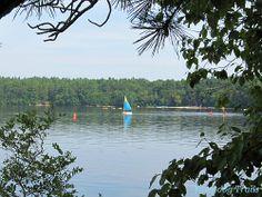 Watercraft on #Yawgoog Pond, Rockville, Hopkinton, Rhode Island (RI).  A 2012 image by David R. Brierley.