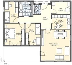 Bungalows, House Plans, Sweet Home, Floor Plans, How To Plan, Modern, Architecture, Pereira, Houses