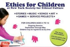 An Exploration of Ethics for Children New York, NY #Kids #Events
