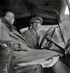 "February 1936. ""Once a Missouri farmer, now a migratory farm laborer on the Pacific Coast, California."" A possible prequel to The Grapes of Wrath. Photo by Dorothea Lange for the Farm Security Administration."
