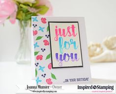 Video – Ombre Watercolor Tutorial – Inspired by Stamping