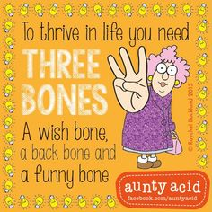 Them bones, them bones... #AuntyAcidWOW