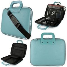 Baby Blue SumacLife Cady Bag Textured Hard Case w/ Removable Shoulders Strap for Microsoft Surface