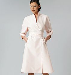 V1239, Misses' Dress and Belt