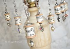 Cute necklace idea from My Salvaged Treasures!