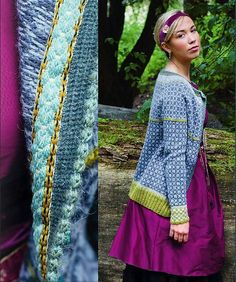 Ravelry: Wiolakofta i tynn alpakka pattern by Kristin Wiola Ødegård Fair Isle Knitting Patterns, Knitting Stitches, Knitting Yarn, Cardigan Design, Knit Cardigan, Norwegian Style, Redo Clothes, Nordic Sweater, Yarn Shop