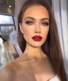 Glam Makeup Look, Red Lip Makeup, Makeup Eye Looks, Glamorous Makeup, Prom Makeup, Wedding Hair And Makeup, Gorgeous Makeup, Pretty Makeup, Skin Makeup