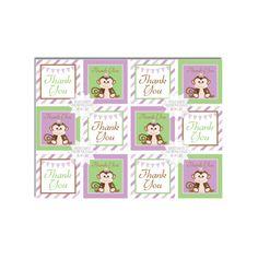 Monkey Favor Tags-Baby Shower/Birthday Favor by AllbyWanda on Etsy