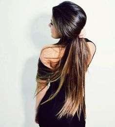 Long straight and changing colour