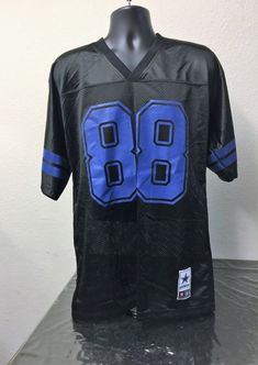 29c7796ad Details about Cowboys Authentic Apparel Dez Bryant  88 Black Blue Jersey  Men Large