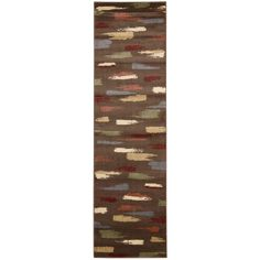 cool Nourison Expressions Chocolate Runner Rug (2'3 x 8')