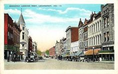 Logansport Indiana IN 1920s Downtown Broadway West Antique Vintage Postcard