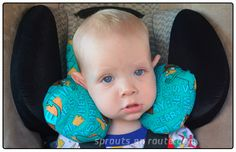 Baby Travel Pillow - Sprouts En Route - Traveling with children (sorry but I can no longer offer the pattern or tutorial due to patent infringement)
