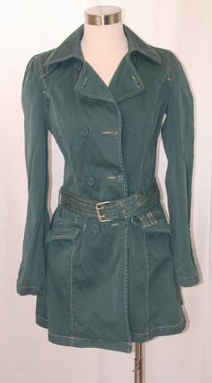4c0cb705857 Anthropologie Sanctuary Trench Coat Green Size Small Get it in time for  spring! Green Coat